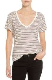 Current Elliott Stripe V-Neck Tee at Nordstrom