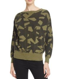 Current Elliott The Collegiate Star Print Sweatshirt at Bloomingdales