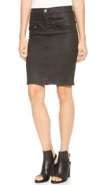 Current Elliott The Soho Coated Stiletto Pencil Skirt at Shopbop