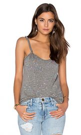 Current Elliott The Twisted Strap Tank in Heather Grey Paint Splatter from Revolve com at Revolve