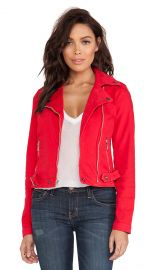 CurrentElliott Biker Jacket in Wagon Red  REVOLVE at Revolve
