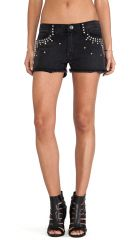 CurrentElliott The Boyfriend Short in Black with Studs  REVOLVE at Revolve