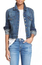 CurrentElliott The Snap Stretch Denim Jacket at Nordstrom