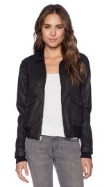 CurrentElliott The Southside Bomber in Black Coated  REVOLVE at Revolve