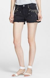 CurrentElliott and39The Boyfriendand39 Studded Shorts at Nordstrom