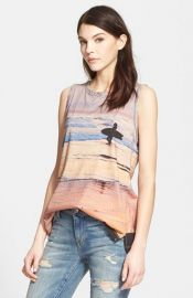 CurrentElliott and39The Muscle Teeand39 Surf Print Tank at Nordstrom