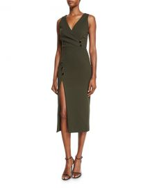 Cushnie et ochs button dress at Neiman Marcus