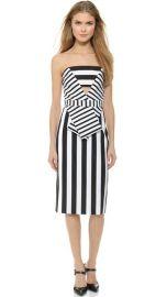 Cushnie Et Ochs Striped Neoprene Dress at Shopbop