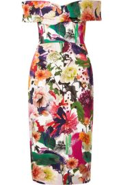 Cushnie et Ochs   Alba off-the-shoulder floral-print stretch-cady dress at Net A Porter
