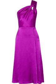Cushnie et Ochs   One-shoulder silk-satin dress at Net A Porter