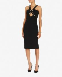 Cushnie et Ochs Sleeveless Dress with Grommets in Black at Shopbop