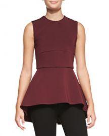 Cushnie et Ochs Sleeveless Peplum Tunic Top at Neiman Marcus