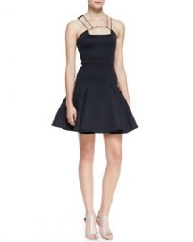 Cushnie et Ochs String-Strap-Detail Flounce Dress at Neiman Marcus