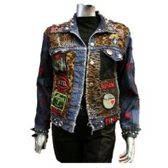 Custom denim jacket at Forgotten Sains
