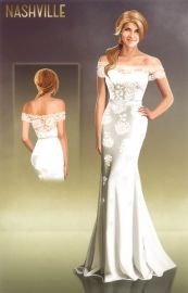 Custom made wedding dress at The Knot