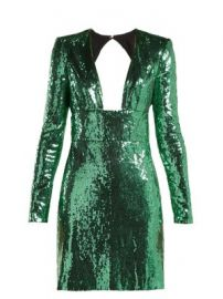 Cut-out back sequined dress at Matches