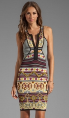 Cut25 by Yigal Azrouel Fair Isle Power Knit Dress in Solar Multi at Revolve