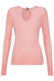 Cutout cashmere sweater by Halston at The Outnet