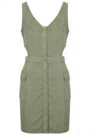 Cutout Military Dress at Topshop
