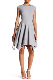 Cutout Piped Fit  amp  Flare Dress at Nordstrom Rack