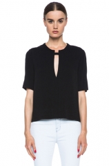 Cutout Top by Raquel Allegra at Forward by Elyse Walker