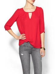 Cutout blouse by Everly at Piperlime