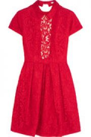 Cutout guipure lace mini dress at The Outnet