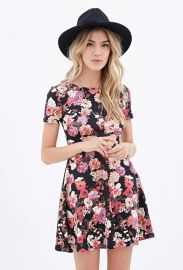 Cutout skater dress at Forever 21