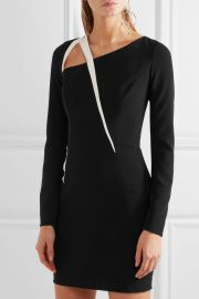 Cutout two-tone crepe mini dress by Mugler at The Outnet