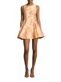 Cynthia Rowley - Floral Jacquard Fit   Flare Dress at Saks Off 5th