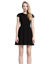 Cynthia Steffe Faux Leather Shoulder Dress at Lord & Taylor