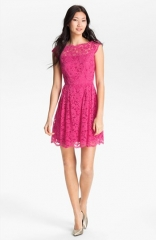 Cynthia Steffe Lace Fit andamp Flare Dress at Nordstrom