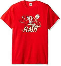 DC Comics Men s the Flash Crimson Comet T-Shirt at Amazon