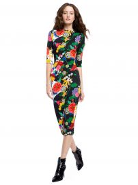 DELORA FITTED MIDI DRESS  at Alice and Olivia