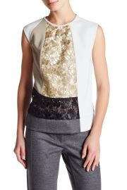 DEREK LAM   Sleeveless Lace Colorblock Blouse    Nordstrom Rack at Nordstrom Rack