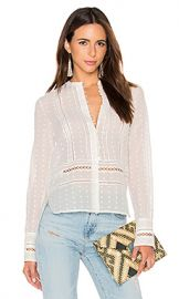 DEREK LAM 10 CROSBY Long Sleeve Embroidered Blouse in Soft White from Revolve com at Revolve