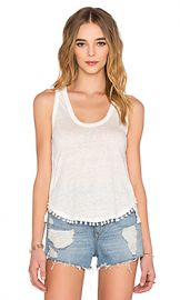 DEREK LAM 10 CROSBY Pom Pom Tank in Soft White from Revolve com at Revolve