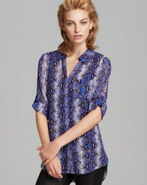 DIANE von FURSTENBERG Blouse - Lorelei Two Python Print at Bloomingdales