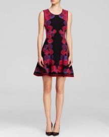 DIANE von FURSTENBERG Dress - Rose Jacquard Flare at Bloomingdales