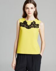 DIANE von FURSTENBERG Tank - Betty Lace Detail at Bloomingdales