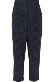 DKNY   Pinstriped stretch wool-blend tapered pants at Net A Porter