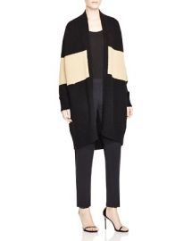 DKNY Color Block Long Cardigan at Bloomingdales