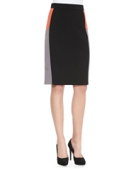 DKNY Colorblock Pencil Skirt at Neiman Marcus