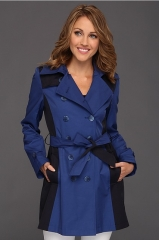 DKNY Colorblock Trench at Zappos