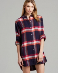 DKNY Mad for Plaid Flannel Boyfriend Sleepshirt at Bloomingdales