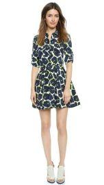 DKNY Mixed Print Long Sleeve Shirtdress at Shopbop