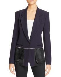 DKNY Notch Collar Inside Out Blazer at Bloomingdales