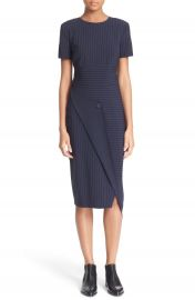DKNY Pinstripe Asymmetrical Dress at Nordstrom