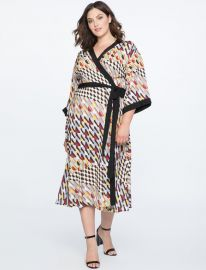 DROPPED SHOULDER KIMONO DRESS at Eloquii