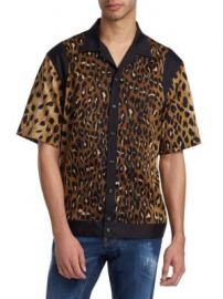 DSQUARED2 - LEOPARD PRINT BOWLING SHIRT at Saks Off 5th